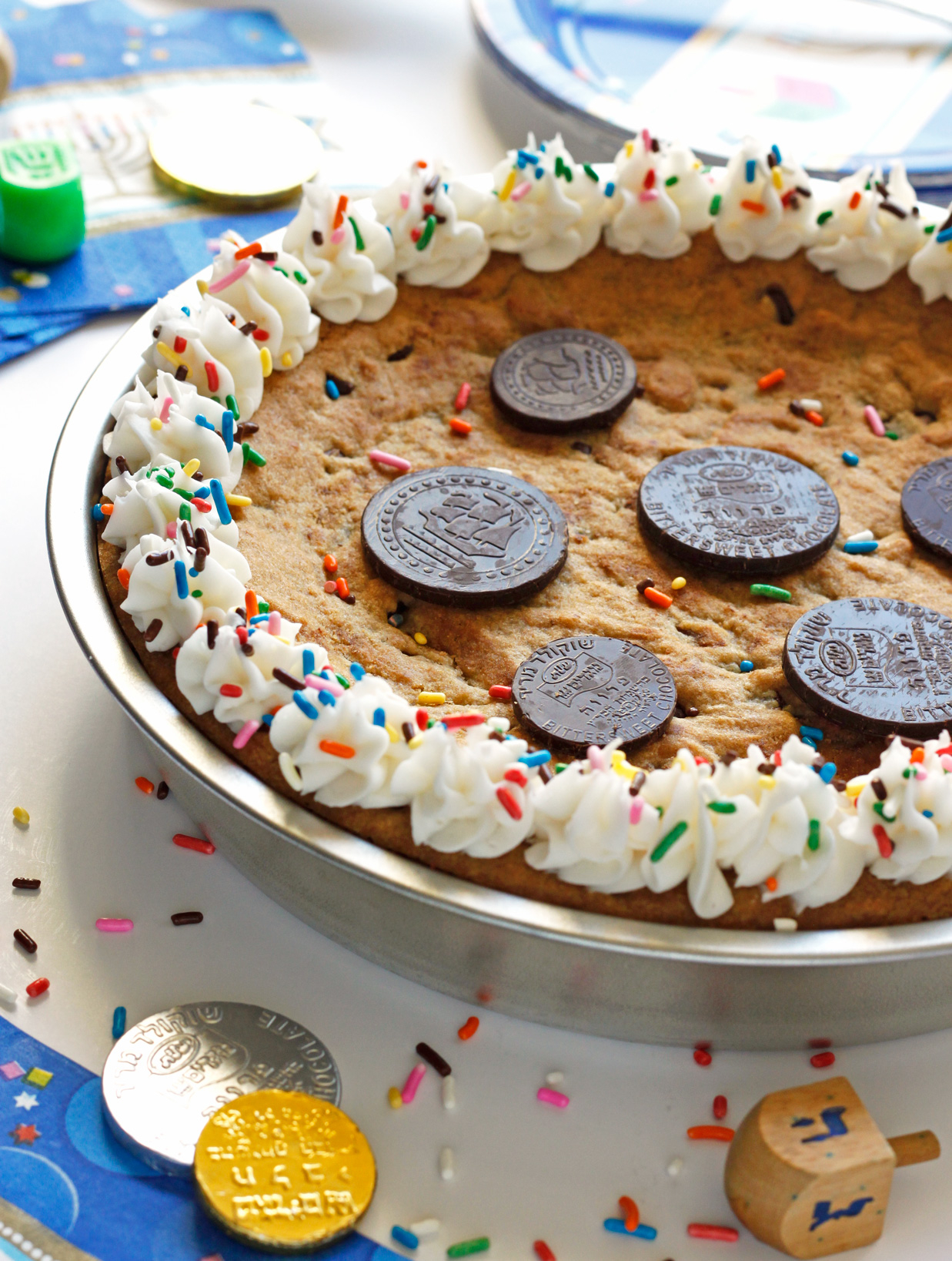 Gelt Cookie Cake: Hanukkah Treats: Whip up one of these traditional treats to celebrate Hanukkah.