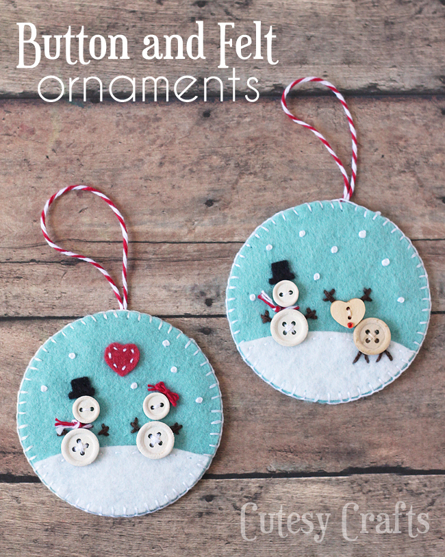 Button and Felt: These creative handmade ornaments will add a special touch to your Christmas tree this season!