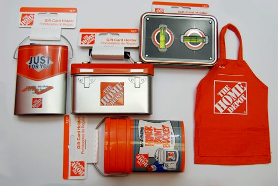 Home Depot: Gift Cards can sometimes be a boring thing to give but a great thing to receive. So why not spice up the way you give them!