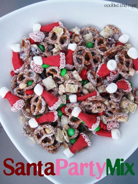 Santa Party Mix: When you head out to your parties, make sure you have some great Christmas Party Food with you!