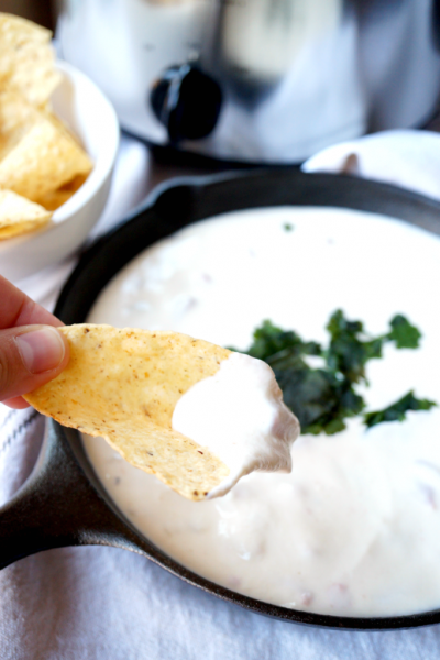Queso Dip: When you head out to your parties, make sure you have some great Christmas Party Food with you!