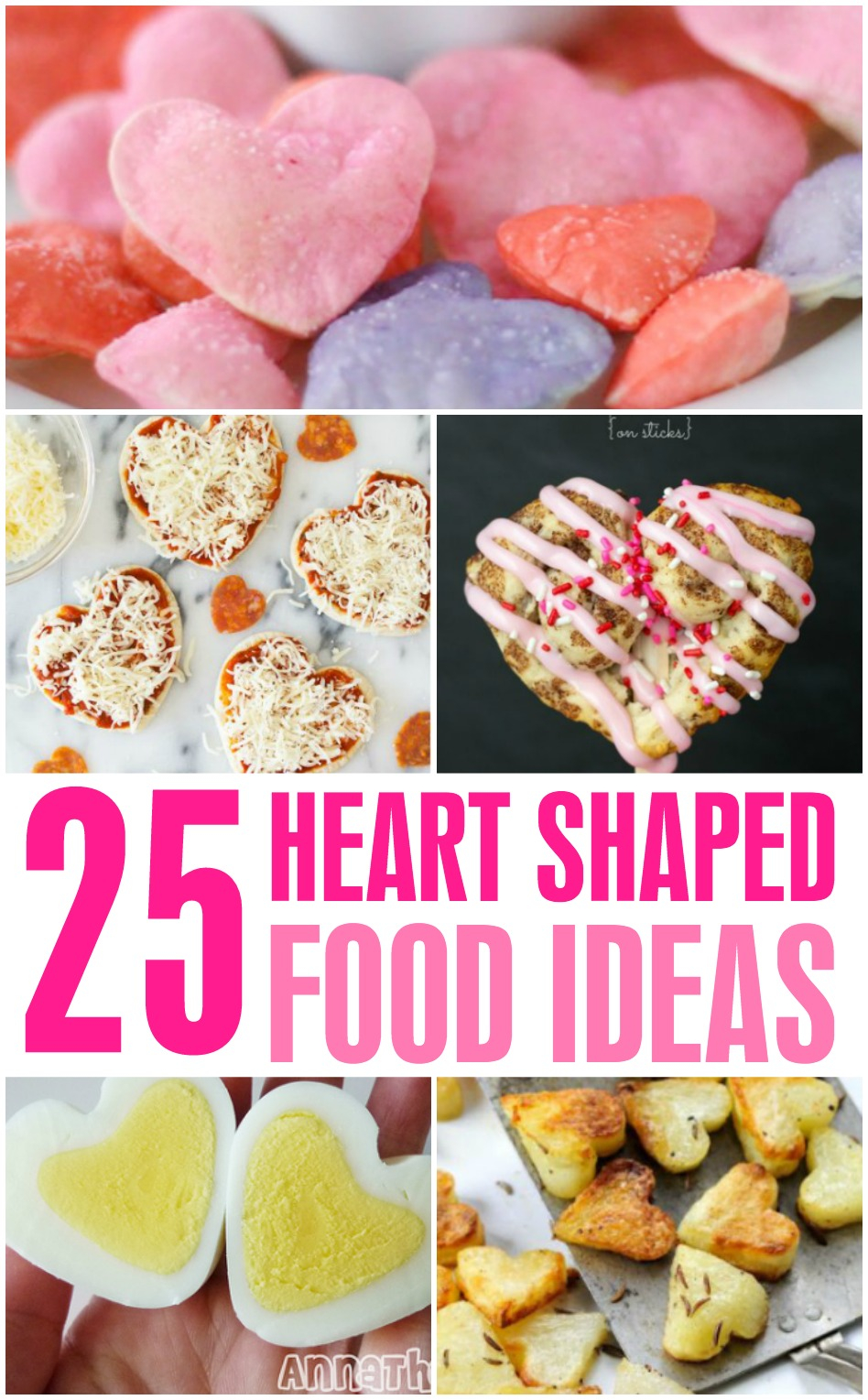 Heart Shaped Food that is perfect for any valentine's day party