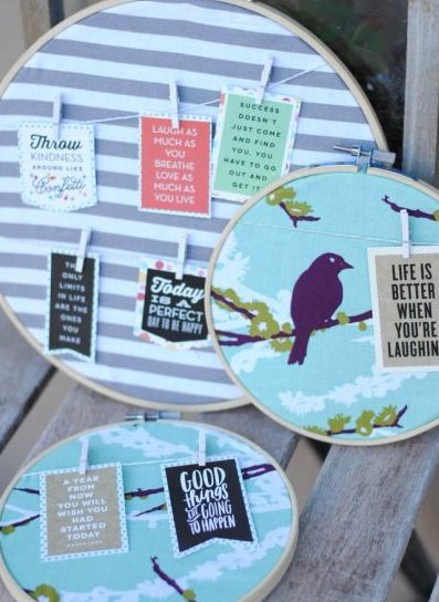 Hoop Quotes are simple and easy craft that you can make for yourself or gift to friends.