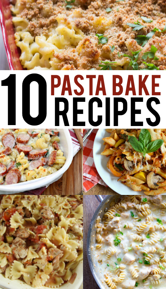 Pasta Bake Recipes that are easy to prepare and simple to swap out your family's favorite sauces and proteins.