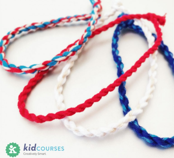 Fourth of July Crafts for Kids: Bracelets