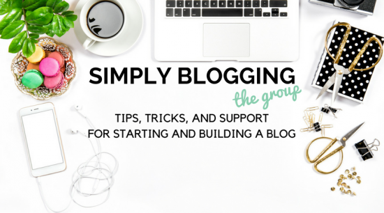 Simply Blogging Facebook Group
