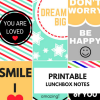 Back to School: Printable Lunchbox Notes
