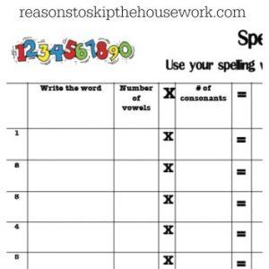 practice spelling words