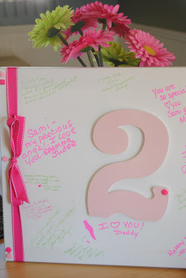 birthday guest book canvas