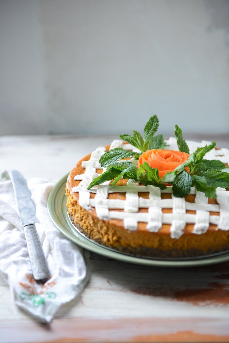 Roasted Carrot Cheesecake
