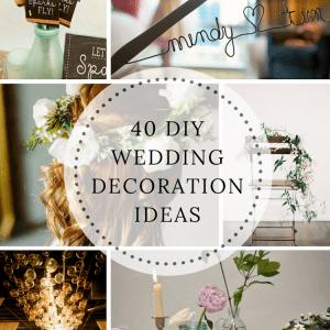 40 DIY Wedding Ideas