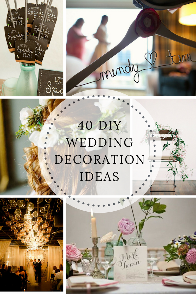 wedding decorations diy ideas 40 diy wedding decoration ideas 9101