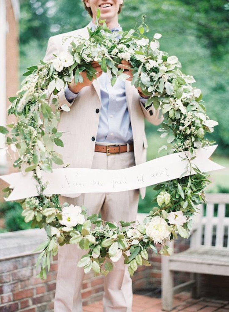 Beautiful floral wedding wreath