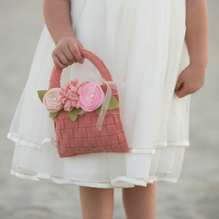 DIY flower girl's basket