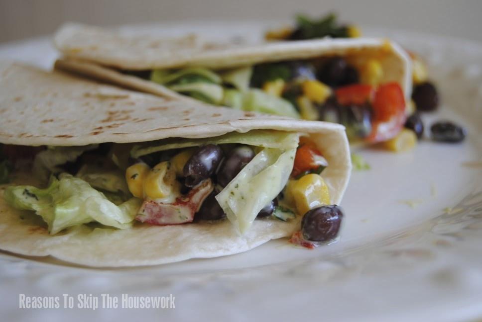 black bean salsa tacos