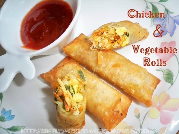 Chicken & Vegetable Rolls 2