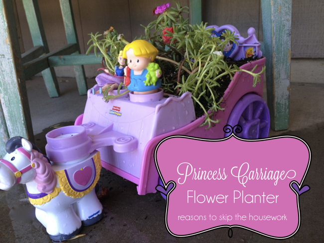 princess carriage flower planter