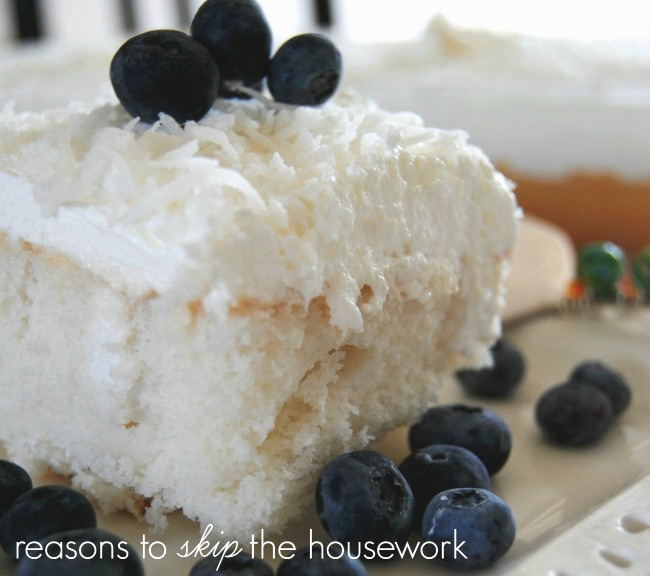 Coconut Cake with Cool Whip Frosting