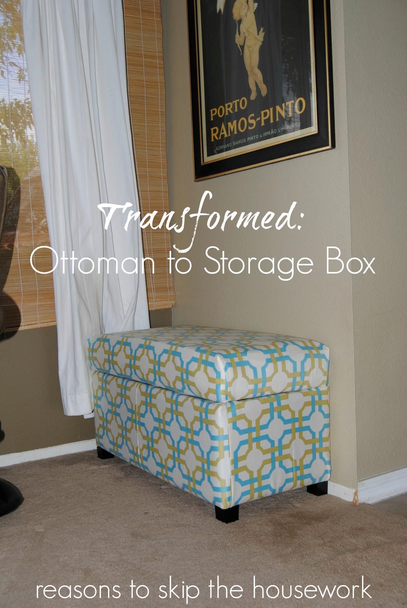 fabric covered storage box