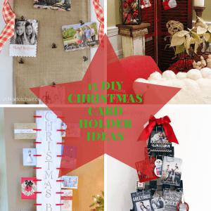christmas card holder ideas