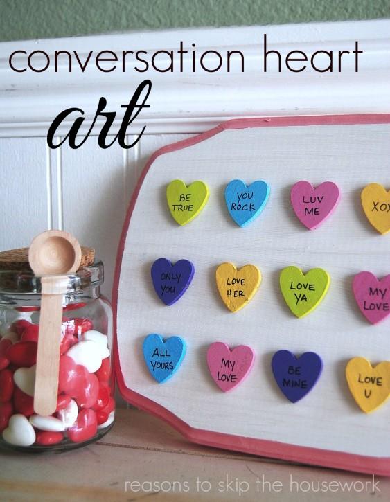 conversation heart art