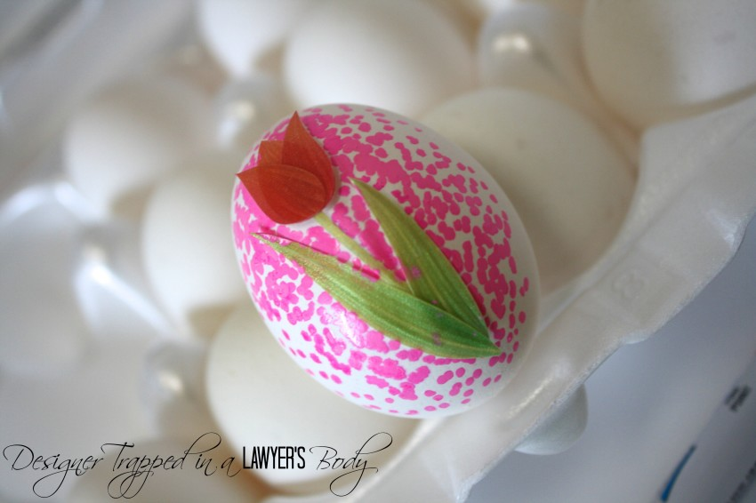 DIY Dotted Easter Egg Tutorial by Designer Trapped in a Lawyer's Body for Reasons to Skip the Housework