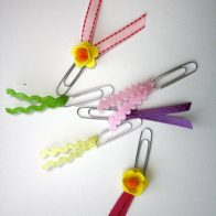 Easy embellished paper clips! By Designer Trapped in a Lawyer's Body for Reasons to Skip the Housework.
