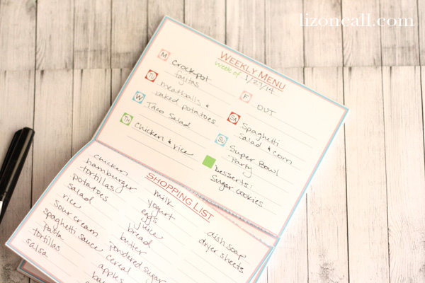 Menu Notepad 7