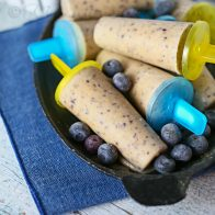 Banana Blueberry Smoothie Pops
