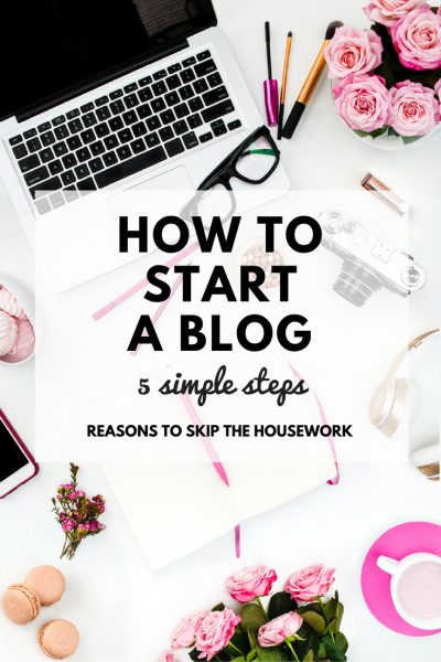 Starting a Blog in just 5 simple steps. Start to finish, you'll learn what you need to know with this post!