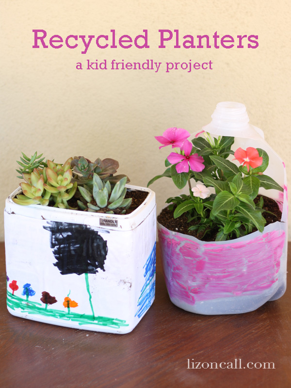 Recycled plastic container planters for Recycled plastic containers