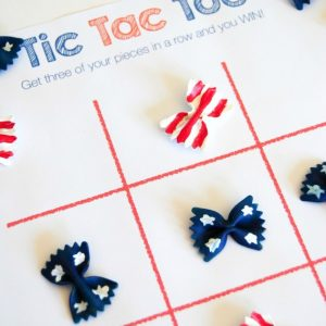 Tic Tac Toe Fourth of July Crafts for Kids