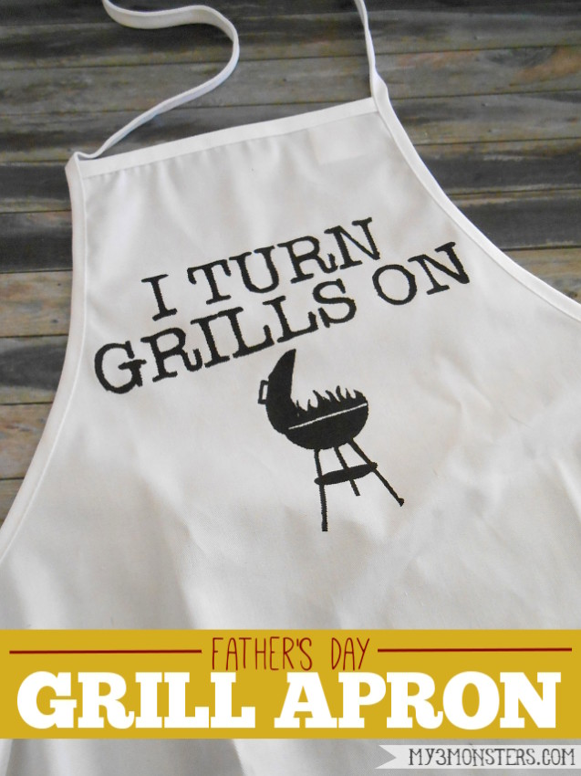 Father's Day Grill Apron TITLED