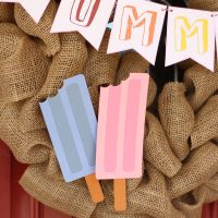 Free Popsicle cutter file - perfect for #summer #wreath or #Party #garland #popsicle