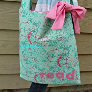 reading book bag