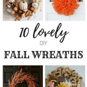 10 lovely fall wreaths