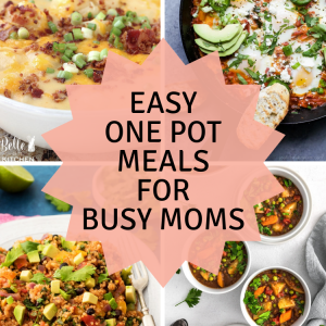 Easy One Pot Meals for Busy Moms