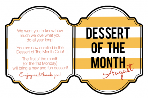 dessert of the month printable