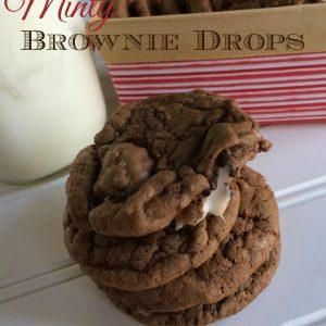 minty brownie cookies