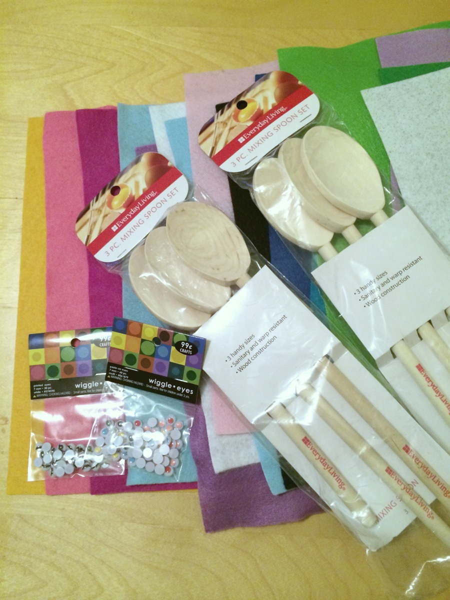 wooden spoon puppets materials