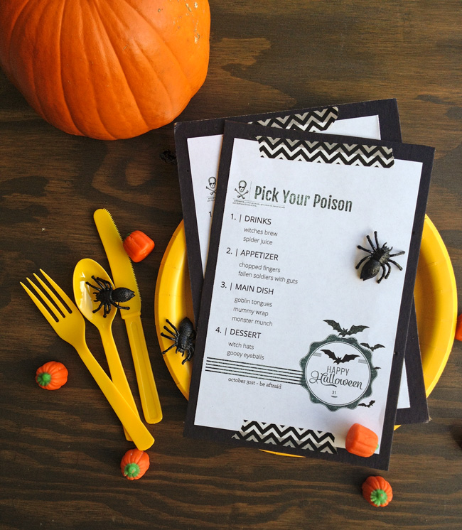 Halloween-Dinner-Menu