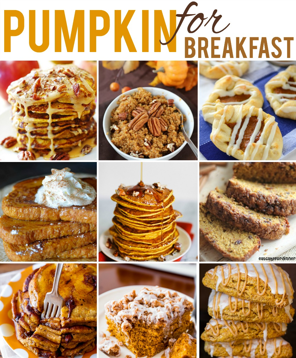 breakfast pumpkin recipes