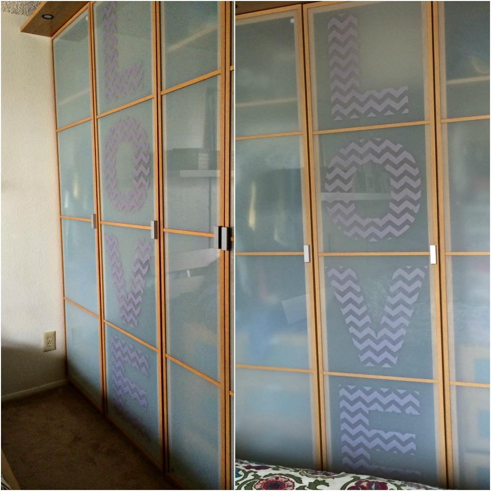 stenciled closet doors 1