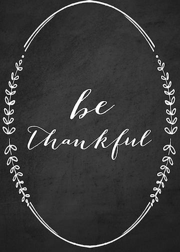 be thankful 5x7