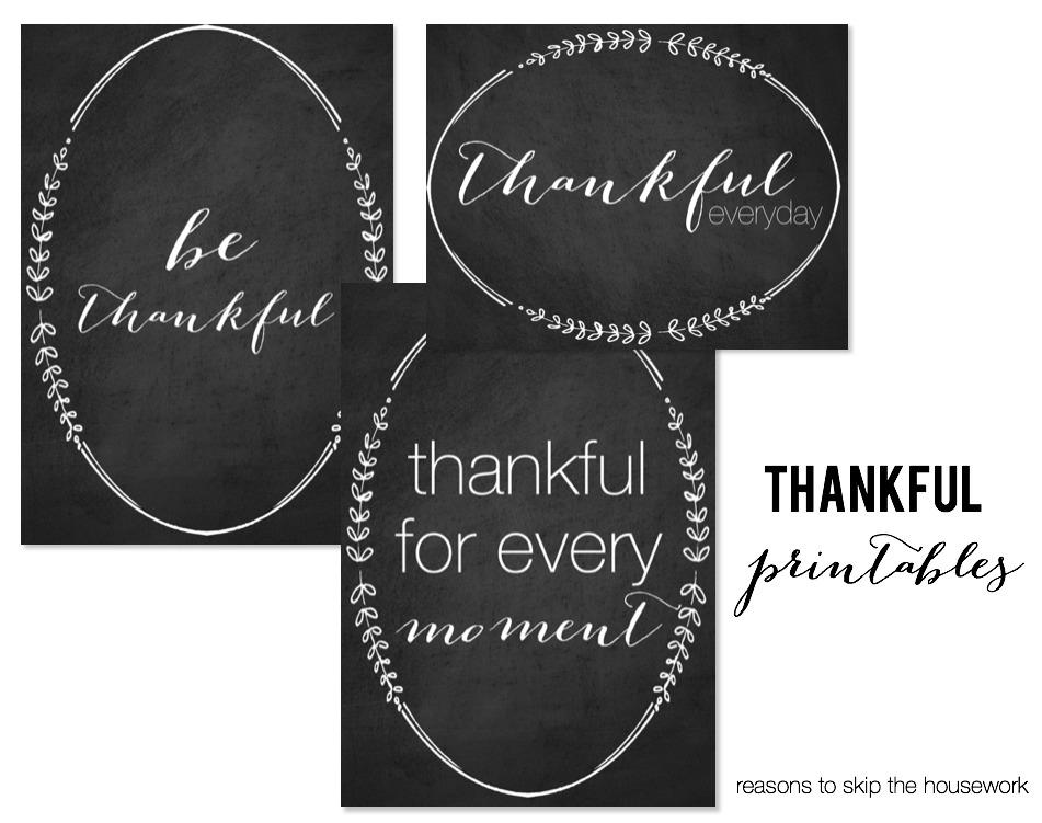 thankful printables