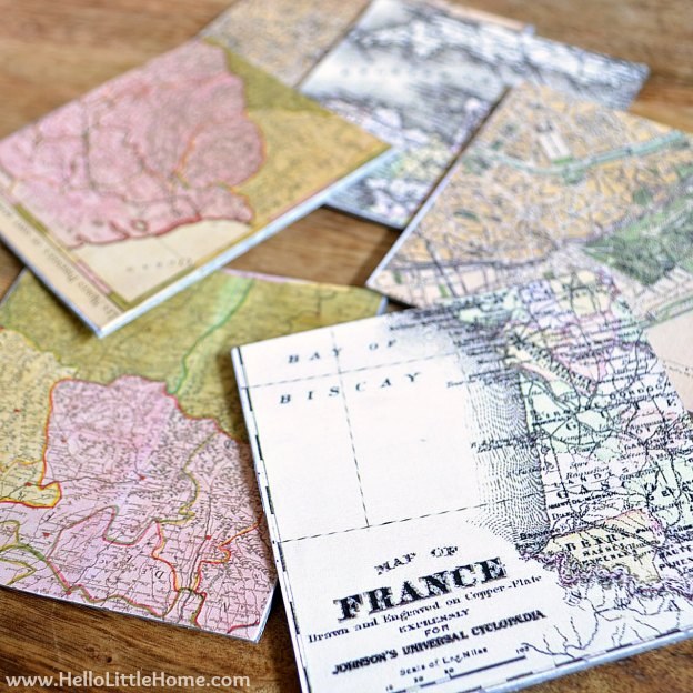 DIY-vintage-french-map-coasters-2
