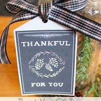 Thankful for You gift tag cover iGottaCreate