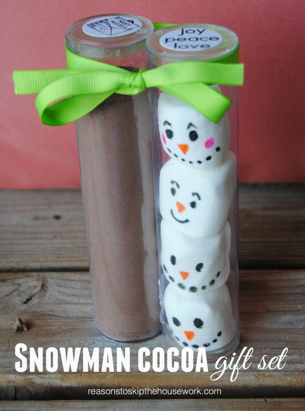 Snowman Cocoa Reasons To Skip The Housework
