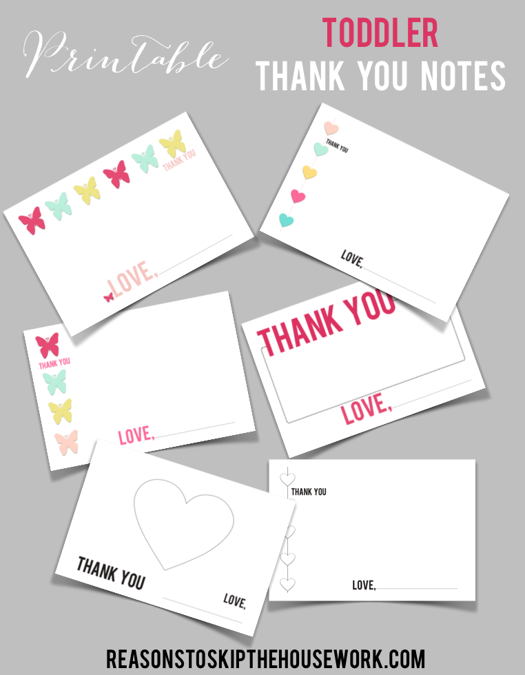 toddler thank you notes