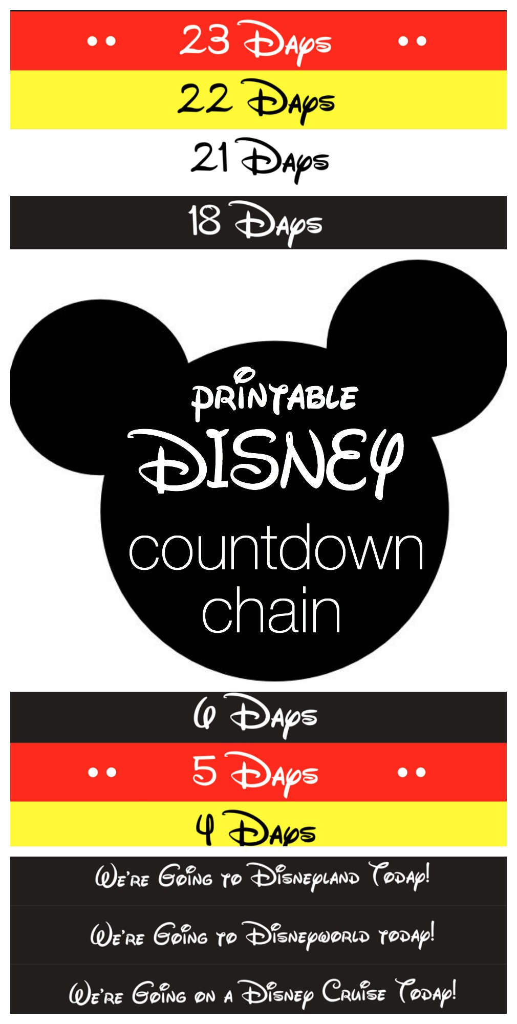 Disney Countdown Chain - Free Printable from Reasons To Skip The ...